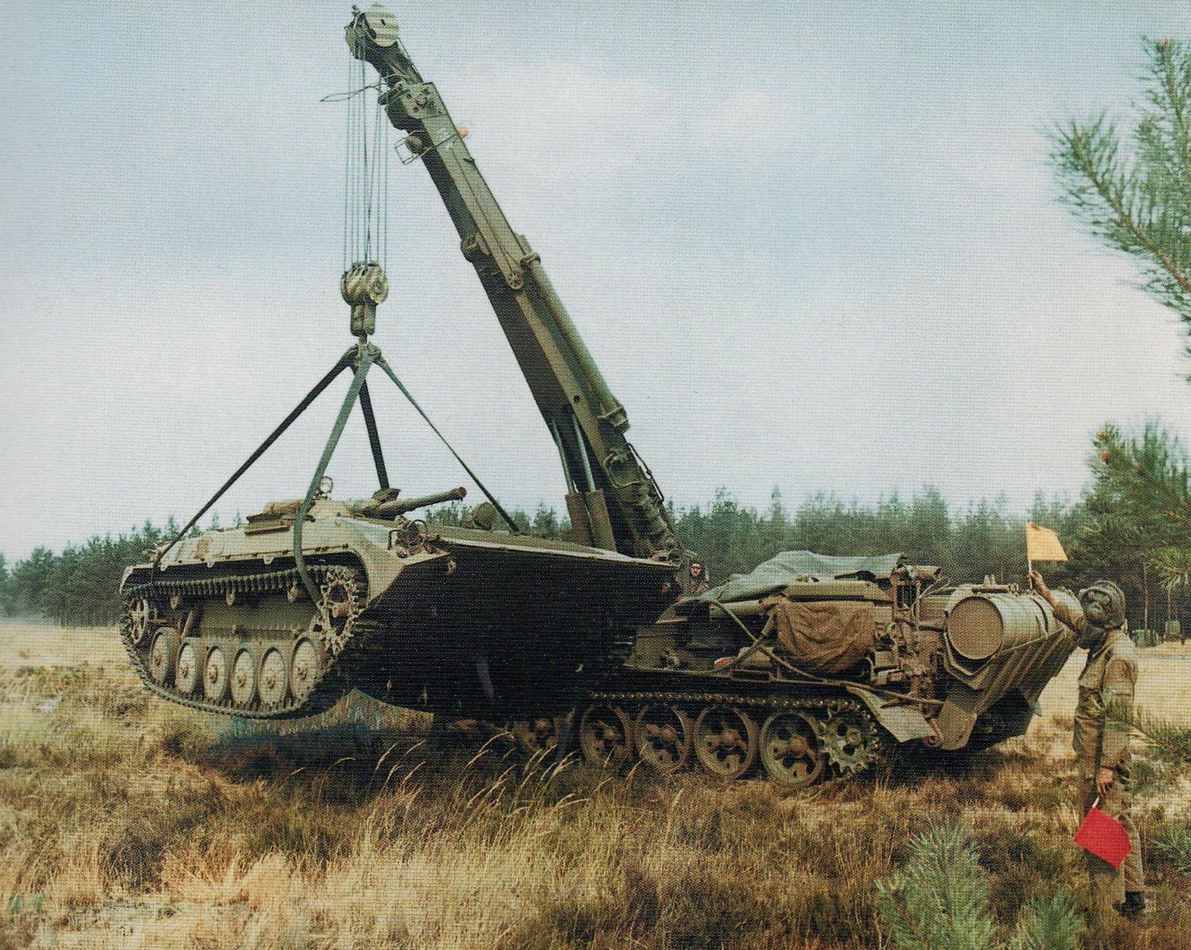 15. Kranpanzer T55-TK im Einsatz