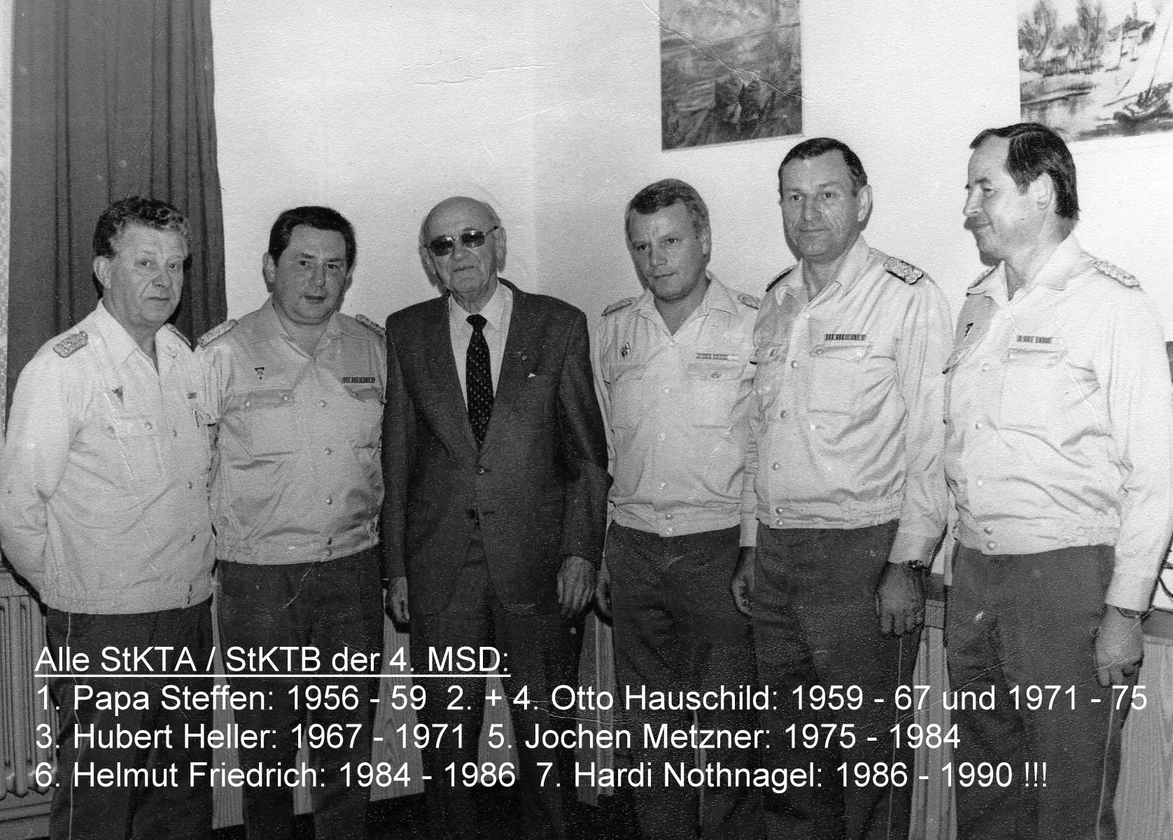 25. alle StKTA bzw. StKTB der 4. MSD - 1956 bis 1990