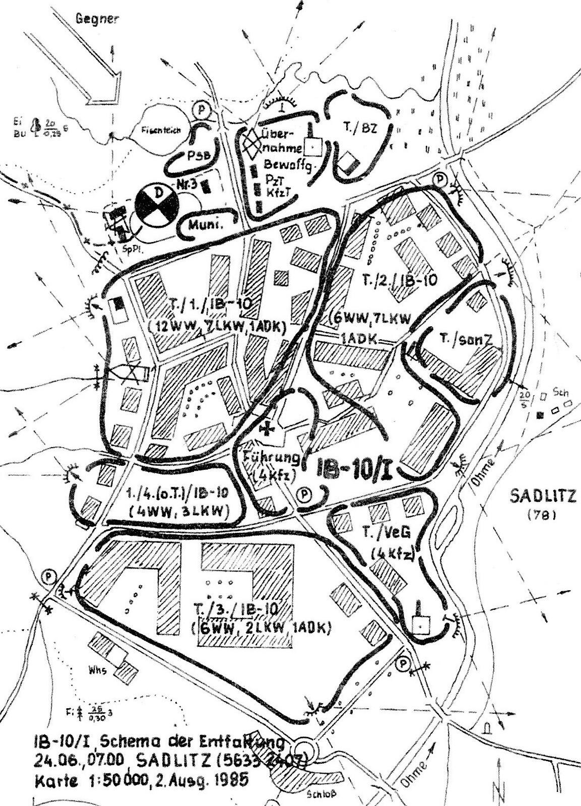34. Variante der Entfaltung des IB in einer Ortschaft