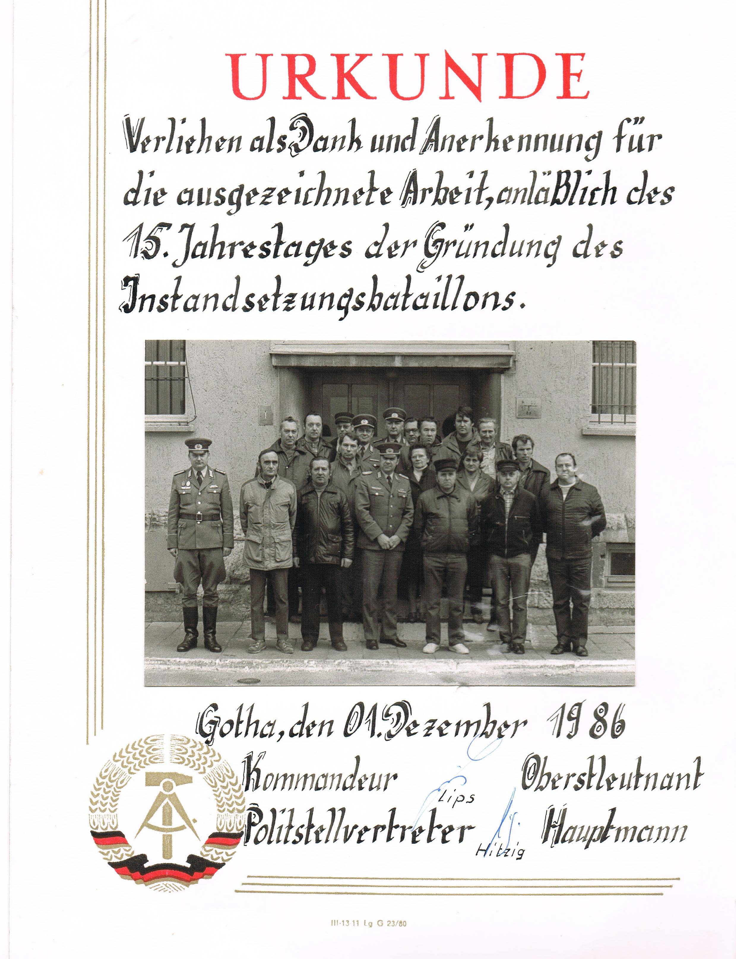 49. 15. Jahrestag IB-4 - Führung mit langjährigen ZB
